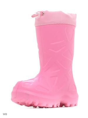 Резиновые сапоги Каури. Цвет: бледно-розовый