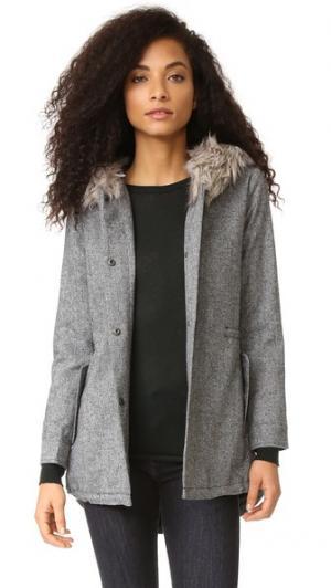 Пальто-анорак Audry с отделкой из искусственного меха cupcakes and cashmere. Цвет: голубой