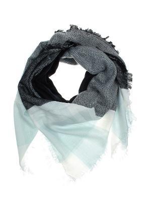 Платок Migura. Цвет: голубой, белый, черный