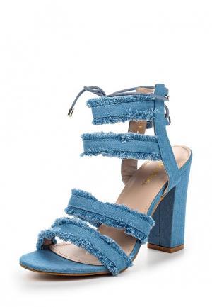 Босоножки Damerose. Цвет: голубой