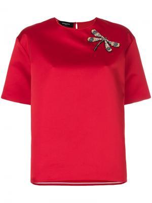 Блузка с короткими рукавами Rochas. Цвет: красный
