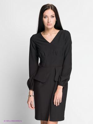 Платье Satin. Цвет: черный