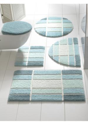 Коврик для ванной Heine Home. Цвет: серый, синий