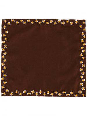 Платок паше с цветочной вышивкой Jupe By Jackie. Цвет: коричневый
