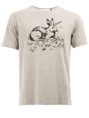 Футболка с принтом Rabbit Undercover. Цвет: серый
