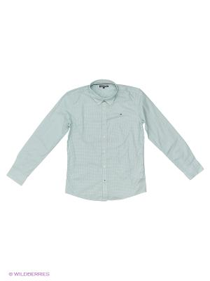 Рубашка Tommy Hilfiger. Цвет: белый, голубой