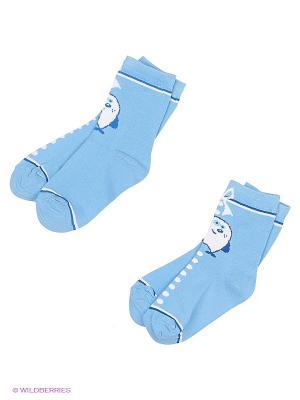 Носки, 2 шт Хох. Цвет: голубой