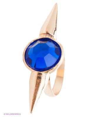 Кольцо Top Secret. Цвет: золотистый, синий