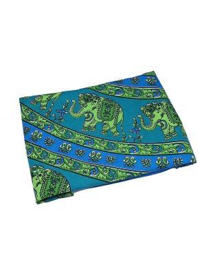 Покрывало декоративное набивное ETHNIC CHIC. Цвет: зеленый, голубой