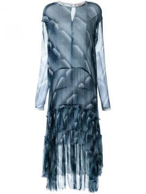 Платье Geometry Set Manning Cartell. Цвет: синий
