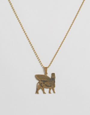 Seven London Ожерелье с иероглифами. Цвет: золотой
