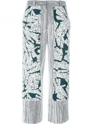Широкие брюки с панельным дизайном Cédric Charlier. Цвет: белый