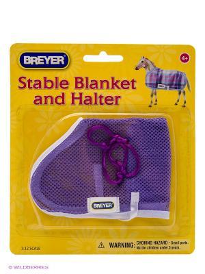 Попоны и сетка для защиты лошади- в ассортименте Breyer. Цвет: голубой