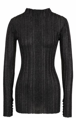Облегающий пуловер с металлизированной нитью Proenza Schouler. Цвет: черный