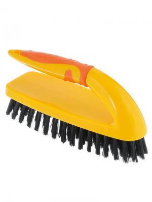 Щетка для чистки одежды, щетина средней жесткости Banat. Цвет: желтый