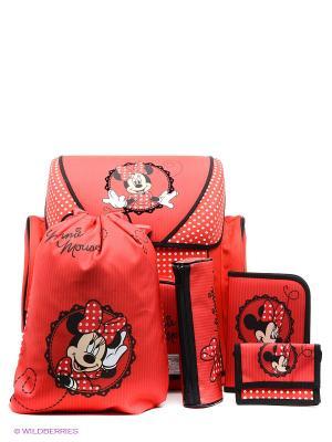 Ранец с наполнением Minnie Mouse Scooli. Цвет: красный