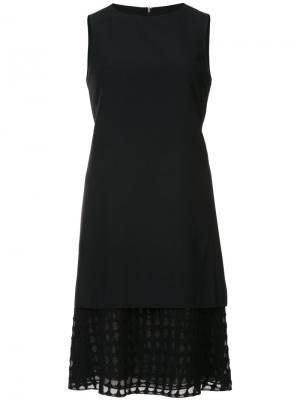 Многослойное платье без рукавов Akris Punto. Цвет: чёрный