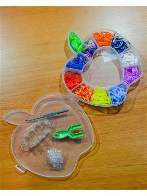Набор резинок для плетения 500 станок крючок рогатка S-зажимы Loom Bands. Цвет: прозрачный