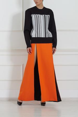 Шелковая юбка Fausto Puglisi. Цвет: оранжевый