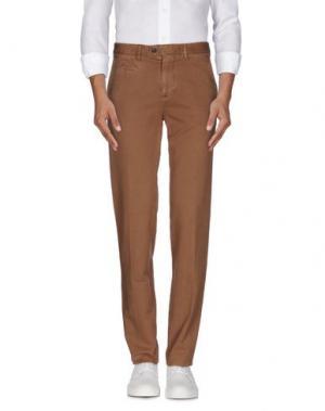 Повседневные брюки COTTON BELT. Цвет: верблюжий