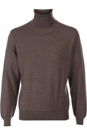Вязаный пуловер Ermenegildo Zegna. Цвет: коричневый
