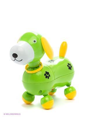Электронная развивающая игрушка Веселый щенок MOMMY LOVE. Цвет: салатовый