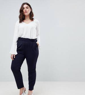 Junarose Свободные брюки. Цвет: темно-синий
