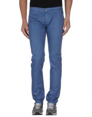 Повседневные брюки 2 MEN. Цвет: грифельно-синий