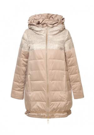 Куртка Московская меховая компания. Цвет: бежевый