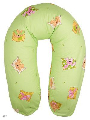 Подушка для беременных и кормящих EUROMAMA. Цвет: салатовый