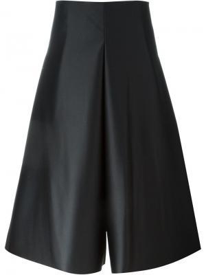 Укороченные расклешенные брюки Solace. Цвет: чёрный