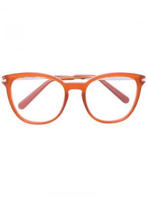 Ацетатные очки с оправой вайфарер Chloé Eyewear. Цвет: жёлтый и оранжевый