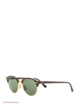 Солнцезащитные очки Ray Ban. Цвет: коричневый