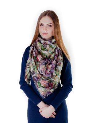 Платок Летний луг Le Motif Couture. Цвет: светло-зеленый, оранжевый, салатовый