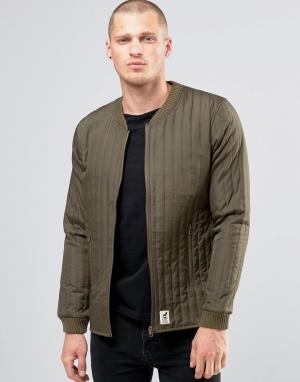 Fat Moose Стеганая куртка‑пилот Lumber. Цвет: зеленый