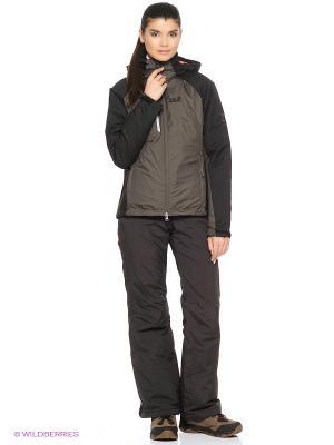 Куртка TROPOSPHERE DF HYBRID JKT W Jack Wolfskin. Цвет: темно-серый