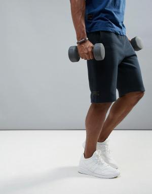 Dissident Флисовые спортивные шорты. Цвет: темно-синий