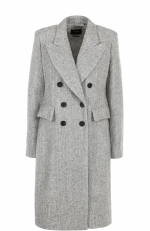 Приталенное двубортное пальто Isabel Marant. Цвет: серый