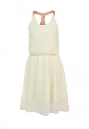 Платье Troll. Цвет: бежевый