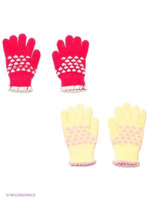 Перчатки, 2 пары FOMAS. Цвет: розовый, желтый