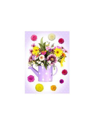 Яркий букет DECORETTO. Цвет: сиреневый, фиолетовый, розовый, желтый, зеленый