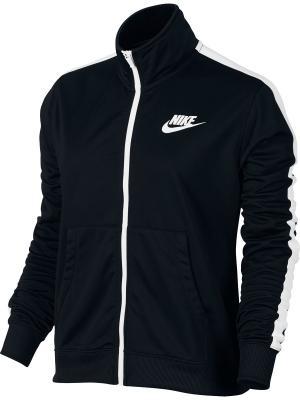 Куртка W NSW TRK JKT PK Nike. Цвет: черный, белый