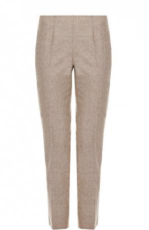 Укороченные брюки прямого кроя со стрелками Colombo. Цвет: бежевый