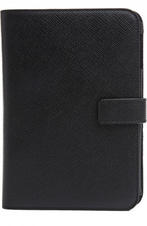 Кожаный чехол для iPad mini Smythson. Цвет: черный