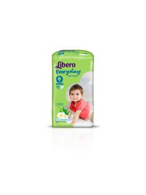 Libero Подгузники детские Every Day макси 7-18кг 20шт упаковка стандартная. Цвет: зеленый