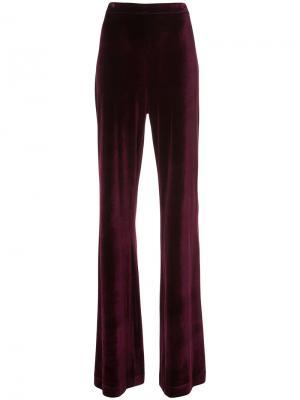 Широкие брюки Christian Siriano. Цвет: розовый и фиолетовый