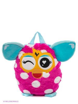 Плюшевый рюкзак, 35 см. Furby. Цвет: фуксия, белый, бирюзовый