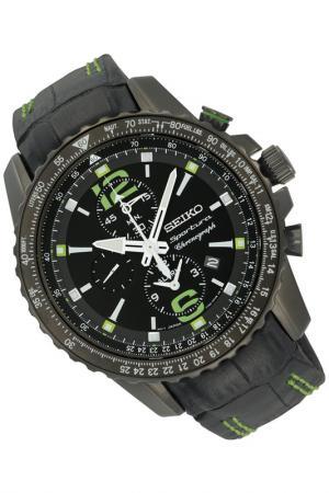 Часы Seiko. Цвет: черный