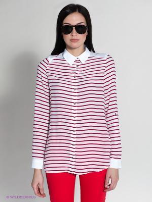 Блузка MAVI. Цвет: красный, белый