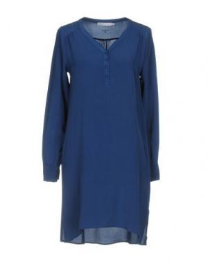 Короткое платье SILK AND CASHMERE. Цвет: синий
